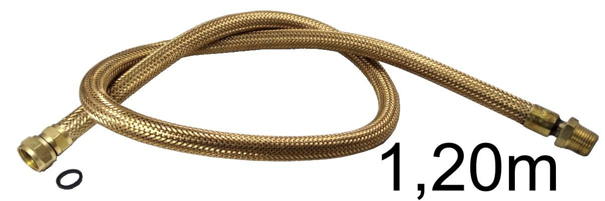 "Mangueira Flexível Tomback 1/2"" - 1,20m - Ref. 00805"