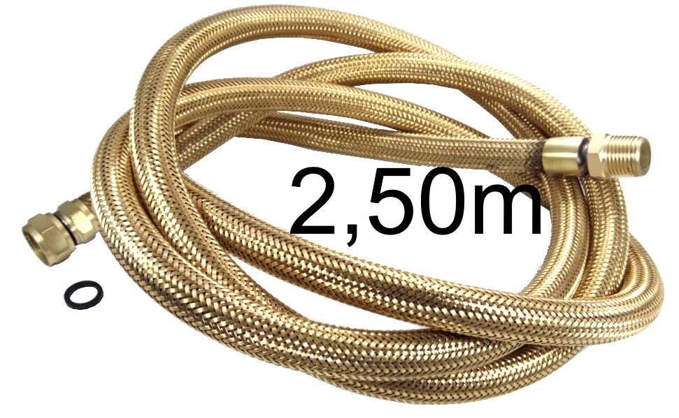 "Mangueira Flexível Tomback 1/2"" - 2,50m - Ref. 00808"