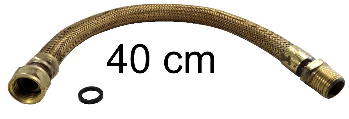 "Mangueira Flexível Tomback 1/2"" - 40cm - Ref. 00800"