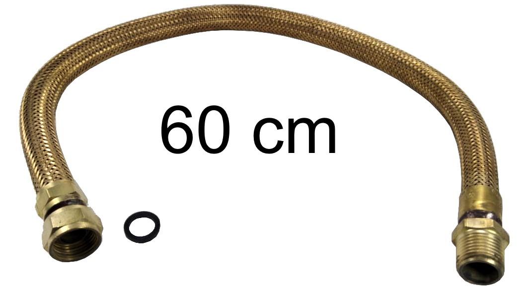 "Mangueira Flexível Tomback 1/2"" - 60cm - Ref. 00802"