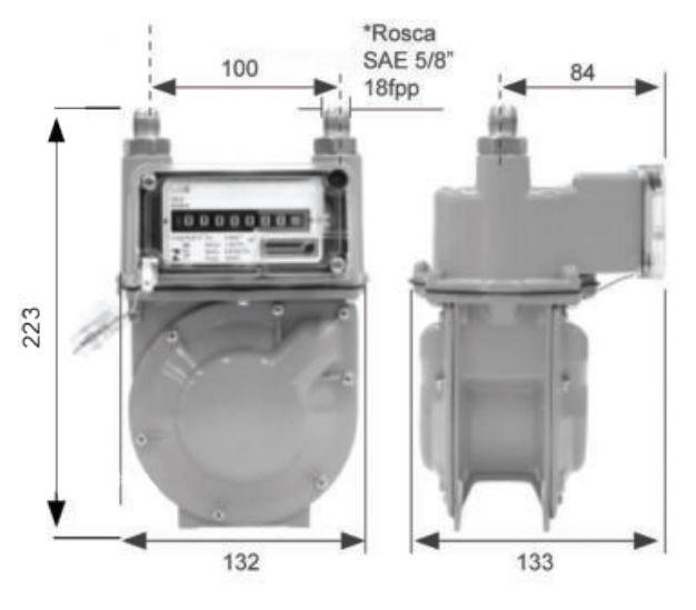Medidor de Gás LAO - Modelo G0.6 - Ref. 02076