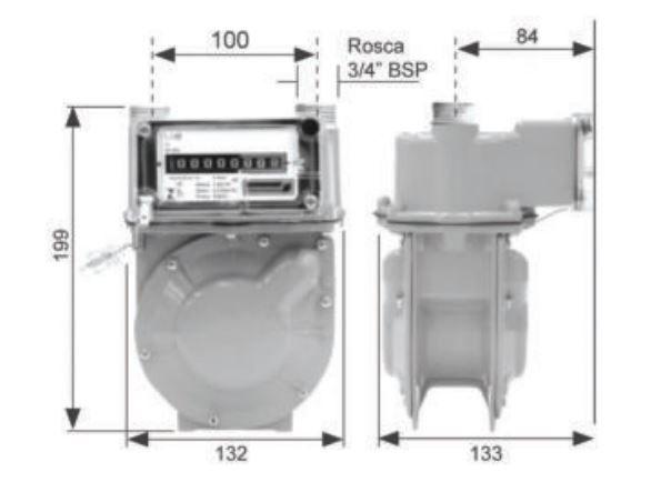 Medidor de Gás LAO - Modelo G1 - Ref. 02077