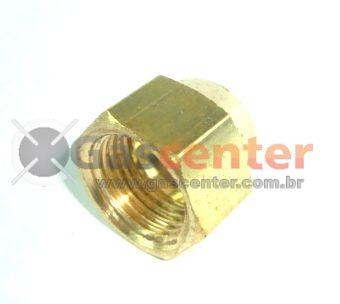 """Porca de Latão - 5/16""""SAE - Ref. 00175"""