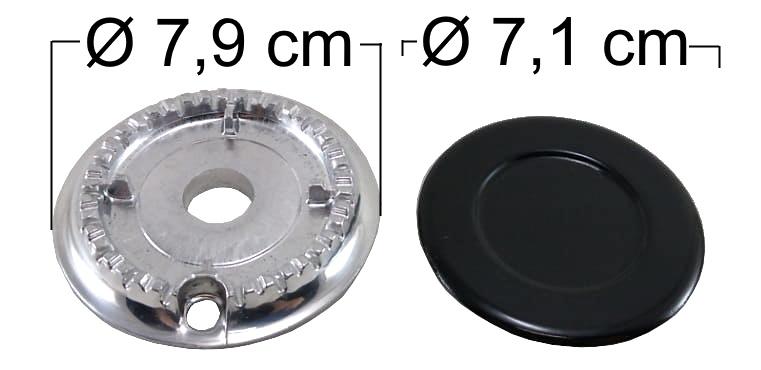 Queimador Completo ATLAS UTOP Boca Pequena - Ref. QCAUBP