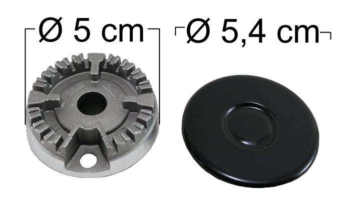 Queimador Completo COOKTOP FISCHER Boca Pequena (Mini) - Ref. QCCFBP