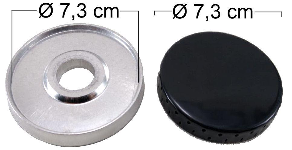 Queimador Completo DAKO LUNA Boca Grande - Furo de Encaixe 2,8cm - Ref. QCDLBG