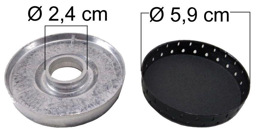 Queimador Completo DAKO LUNA Boca Pequena - Furo de Encaixe 2,4cm - Ref. QCDLBP