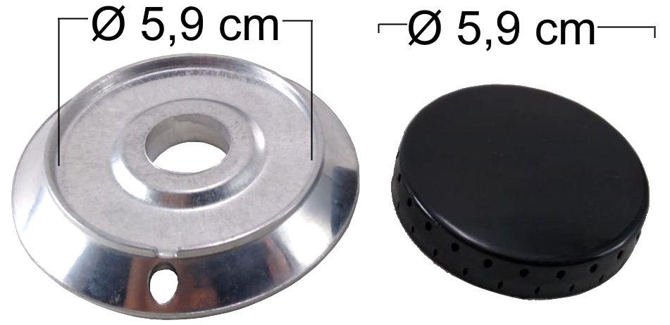 Queimador Completo DAKO/MULLER Boca Pequena - Furo de Encaixe 2,4cm - Ref. QCDMBPFG