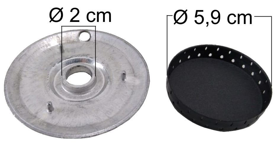 Queimador Completo DAKO/MULLER Boca Pequena - Furo de Encaixe 2cm - Ref. QCDMBPFP