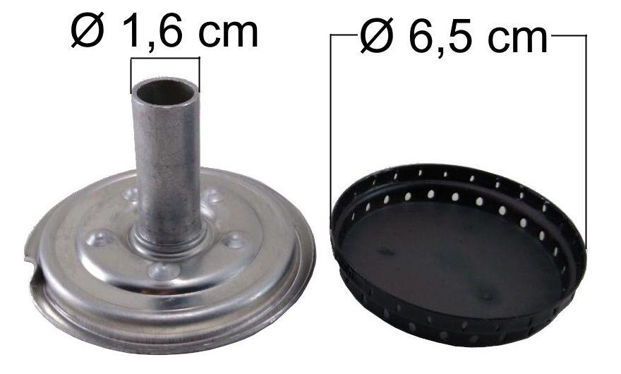 Queimador Completo ESMALTEC Boca Pequena - Ref. QCEBP