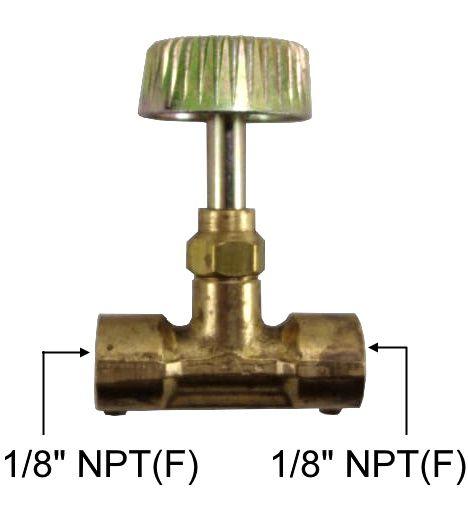 "Registro Alta Pressão de Latão 1/8""NPT(F) x 1/8""NPT(F) - Ref. 00302"