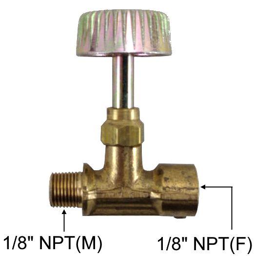 """Registro Alta Pressão de Latão 1/8""""NPT(M) x 1/8""""NPT(F) - Ref. 02923"""