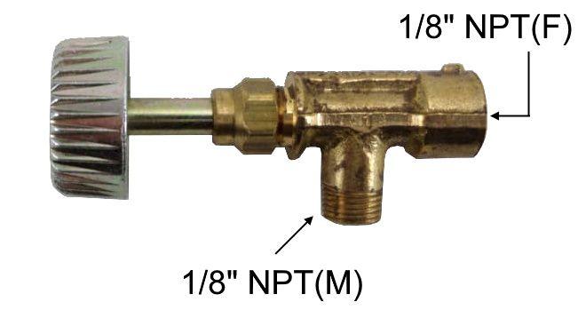 """Registro Alta Pressão de Latão ANGULAR 1/8""""NPT(M) x 1/8""""NPT(F) - Ref. 00304"""