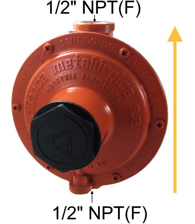 Regulador de Gás ALIANÇA - 12Kg/h LARANJA - GLP - 76511/1 LJ - Ref. 00452