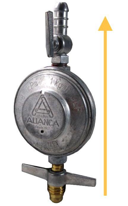 Regulador de Gás ALIANÇA - 1kg/h - GLP - 504/1 - Ref. 00257