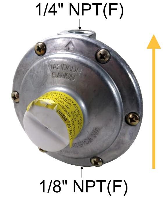 Regulador de Gás ALIANÇA - 5Kg/h - GLP - 506/02 - Ref. 00259