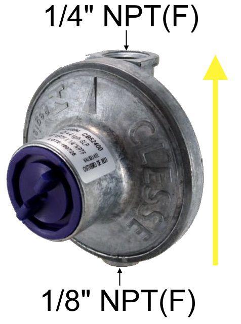 Regulador de Gás CLESSE - EXPERT 4kg/h - GLP - Ref. 02468