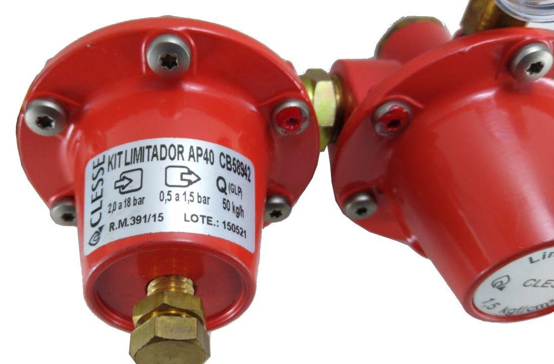 Regulador de Gás CLESSE - AP40 com LIMITADOR - 50Kg/h - GLP - CB58942 - Ref. 01942