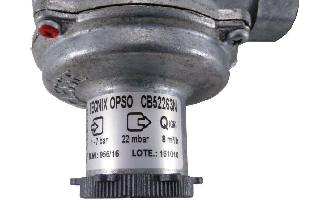 Regulador de Gás CLESSE - 8m³/h - GÁS NATURAL - TECNIX com OPSO - Ref. 02271