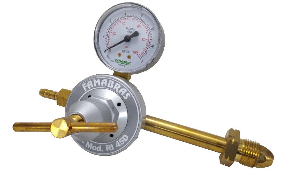Regulador de Gás para Botijão P45 (Ligação Direta) - FAMABRAS - Ref. 02662