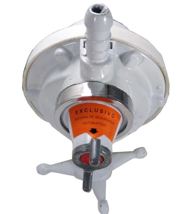 Regulador de Gás VINIGÁS VERGÁS - 1kg/h - com Manômetro e Sistema de Segurança - GLP - Ref. 00258
