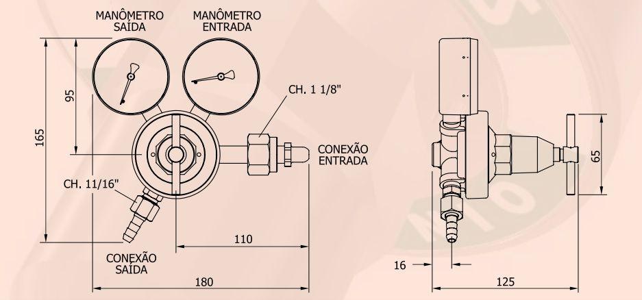 Regulador de OXIGENIO (O2) - FAMABRAS - Ref. 02610