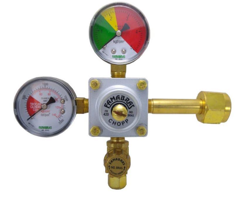 Regulador para CHOPP Saída Simples - FAMABRAS - Ref. 02612