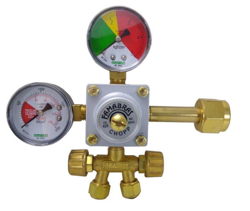 Regulador para CHOPP Saída Dupla - FAMABRAS - Ref. 02611