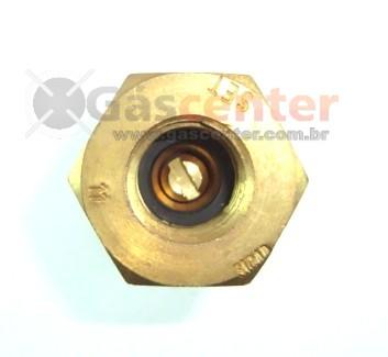 "Válvula 1/2""NPT(M) x Botijão P13 (Rosca Grossa) - Ref. 00019"