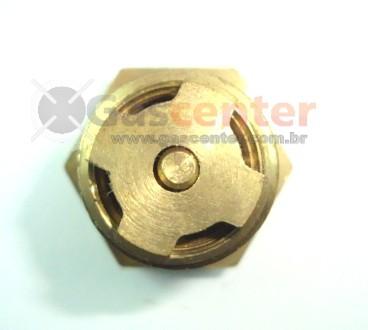 "Válvula 1/2""NPT(M) x Botijão P2 (Rosca Fina) - Ref. 00020"