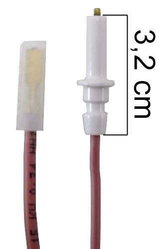 Vela/Eletrodo Acendimento Automático BRASTEMP UNIQUE CURTA - TERMINAL FINO - Ref. 01027