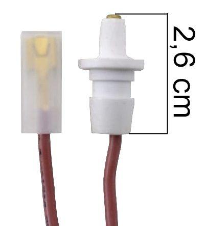 Vela/Eletrodo Acendimento Automático ATLAS ANTIGA - TERMINAL GROSSO - Ref. 01017