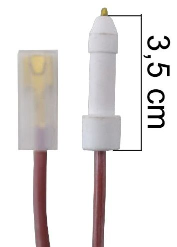 Vela/Eletrodo Acendimento Automático BRASTEMP DEVILLE - TERMINAL GROSSO - Ref. 01025