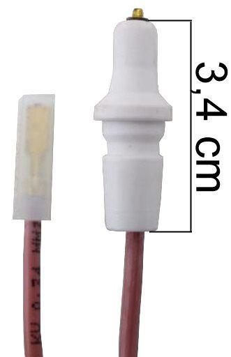 Vela/Eletrodo Acendimento Automático CONTINENTAL CAPRICE GRAND PRIX - TERMINAL FINO - Ref. 01474