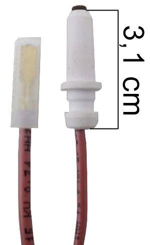 Vela/Eletrodo Acendimento Automático ESMALTEC MODERNA DIAMANTE - TERMINAL FINO - Ref. 02956