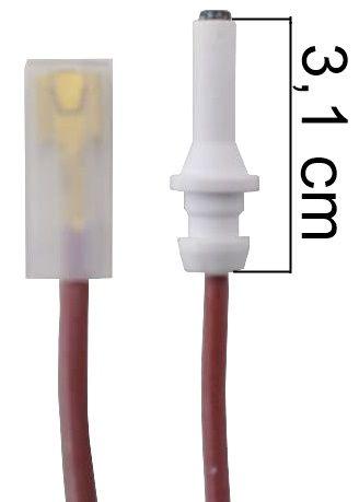 Vela/Eletrodo Acendimento Automático ESMALTEC MODERNA LONGA - TERMINAL GROSSO - Ref. 02955