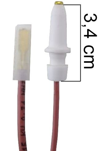 Vela/Eletrodo Acendimento Automático DAKO / GE - TERMINAL FINO - Ref. 01037