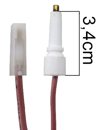Vela/Eletrodo Acendimento Automático MULLER - TERMINAL FINO - Ref. 01041