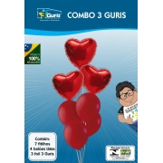 COMBO 3 GURIS RED BALLOON