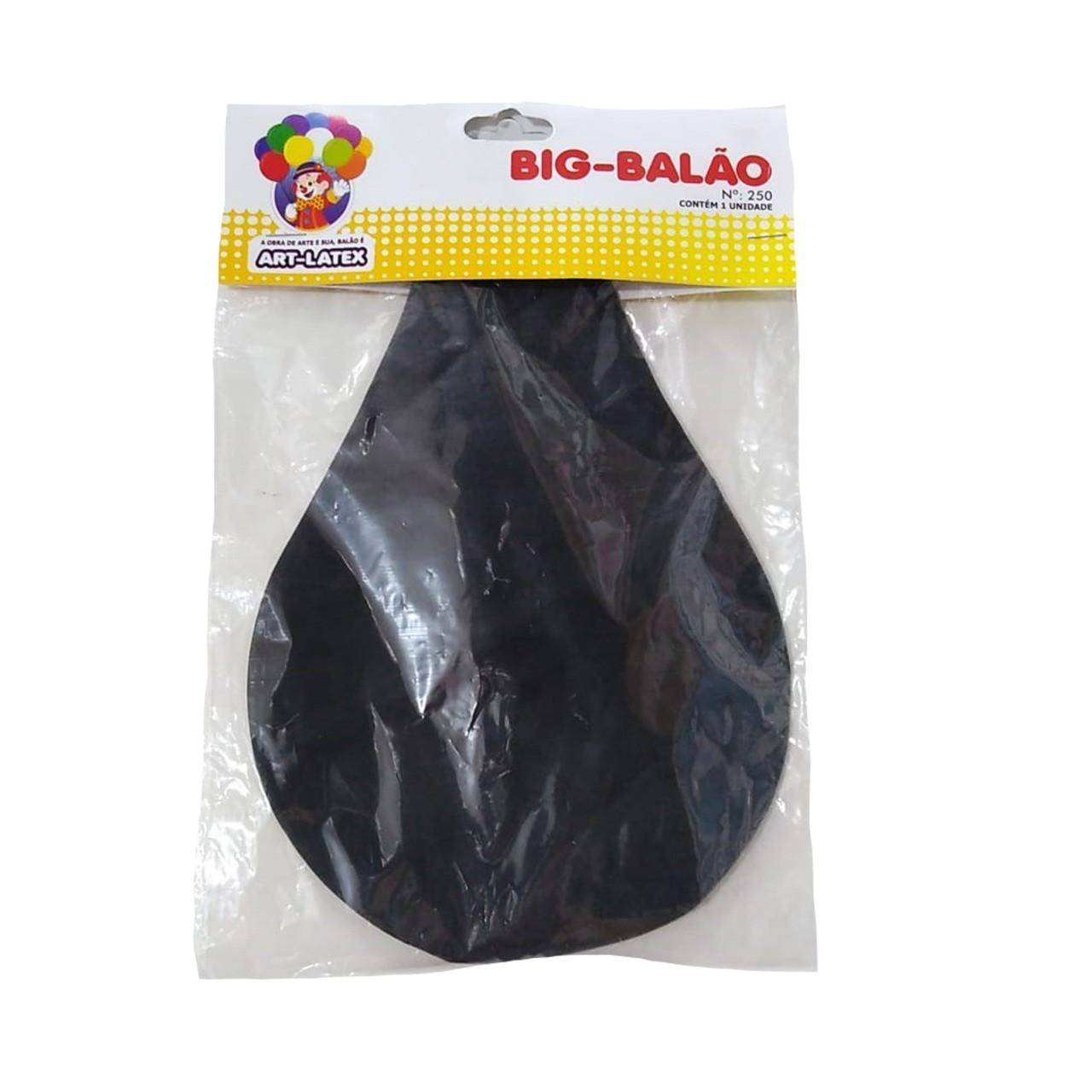 BALÃO LATEX BIG BALÃO PRETO - 1 UNIDADE