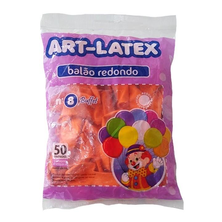 BALÃO LATEX REDONDO BUFFET LARANJA - N°8