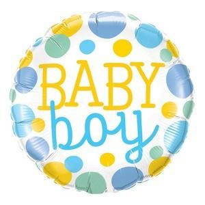 """BALÃO REDONDO """"BABY BOY"""" - COLORIDO"""