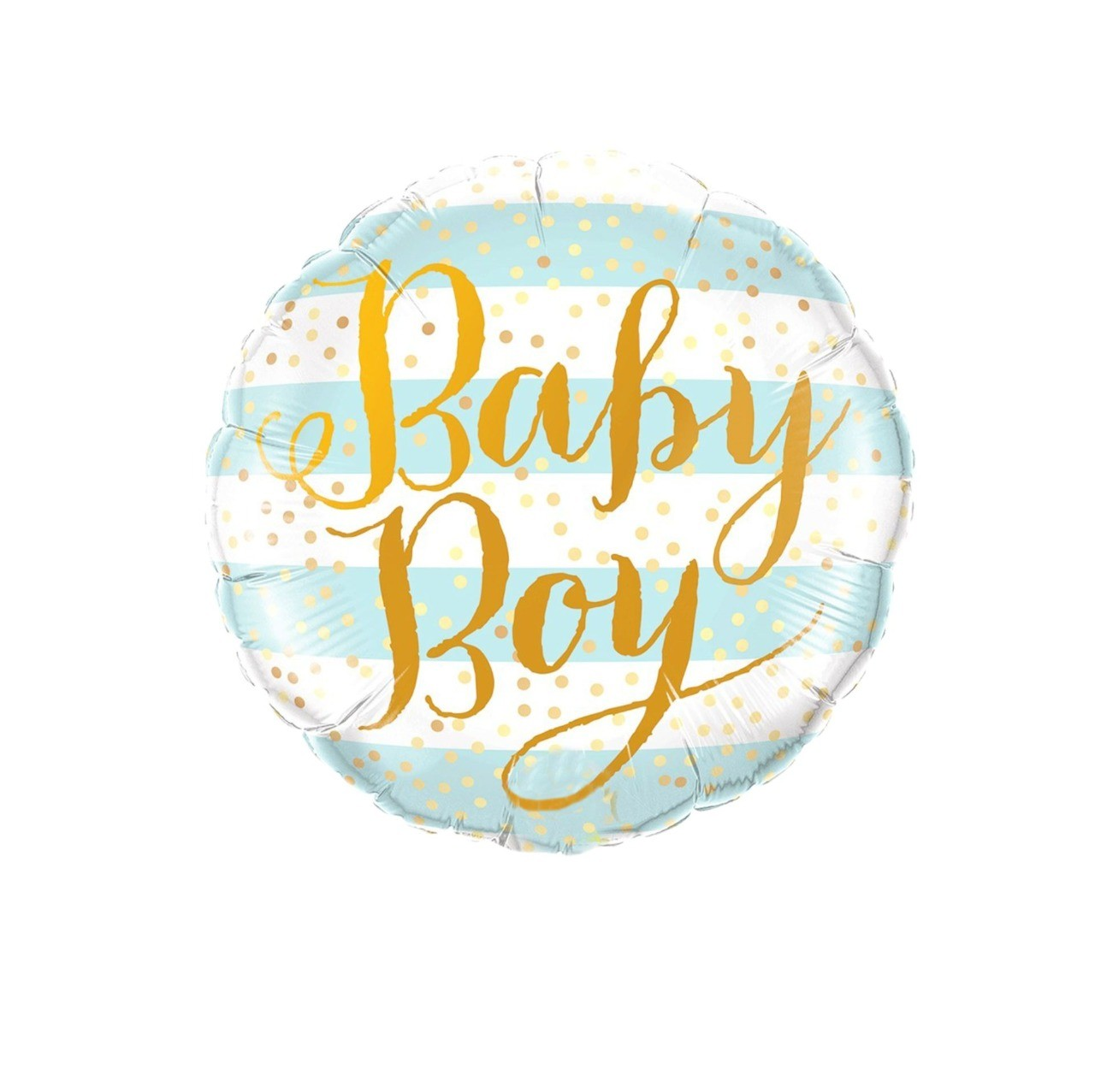 "BALÃO REDONDO ""BABY BOY"" - LISTRADO AZUL"