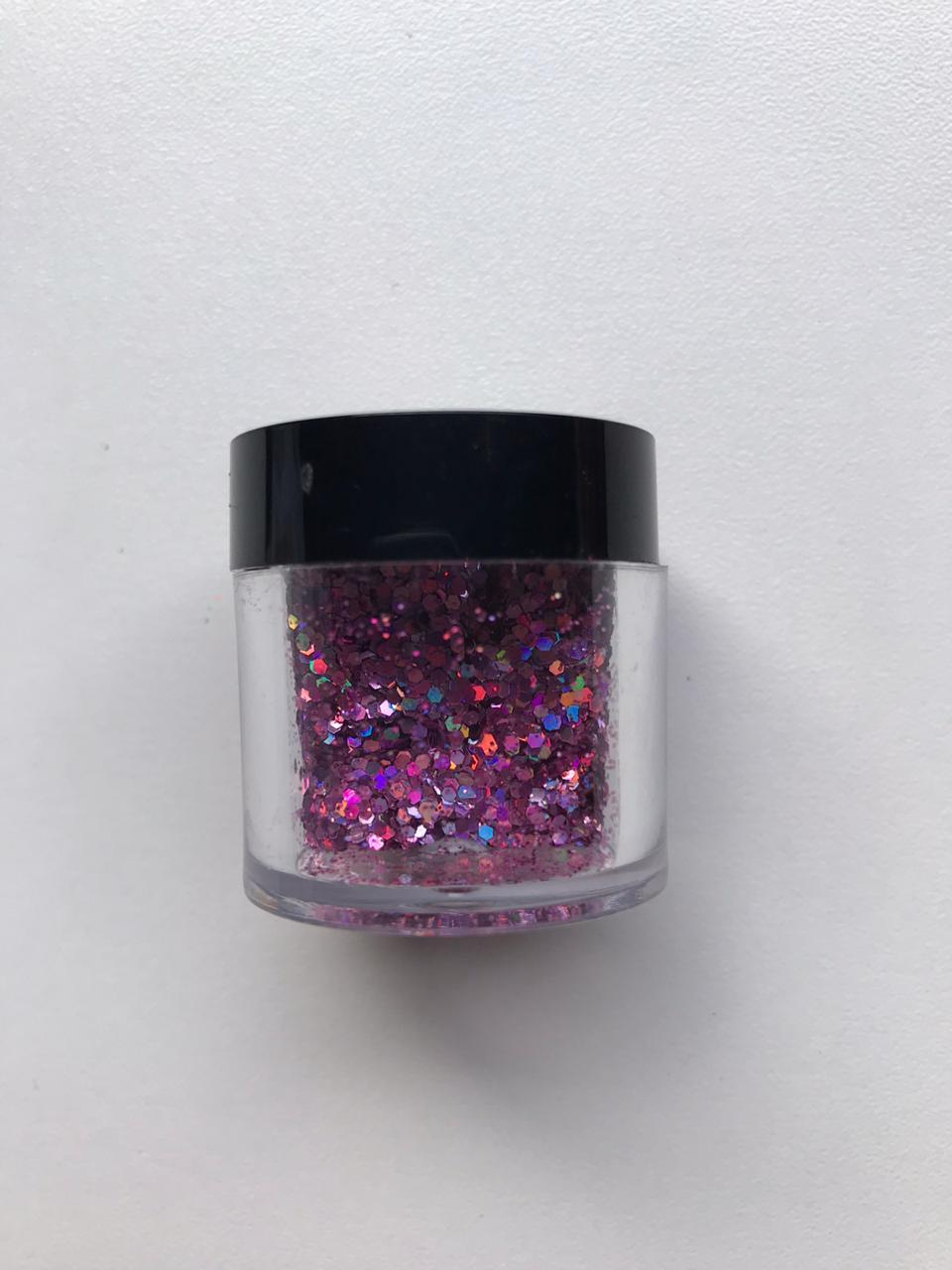 GLITTER EXTRA FINO IDEAL PARA BUBBLE 10gramas - COR: ROSE