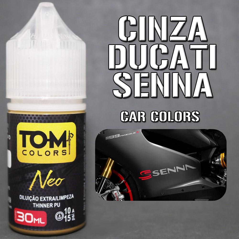 Cinza Ducatti Ayrton Senna