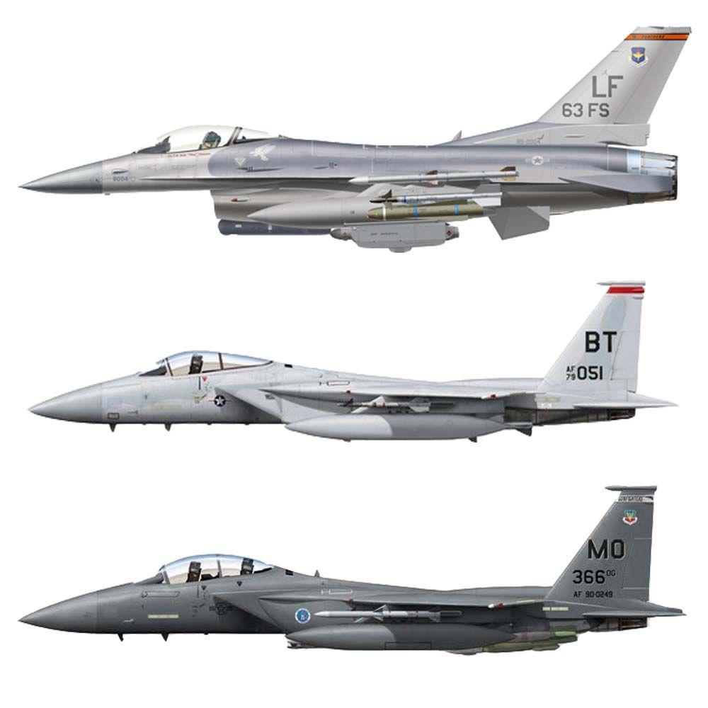 Set F-15 / F-16 USAF Tons de Cinza