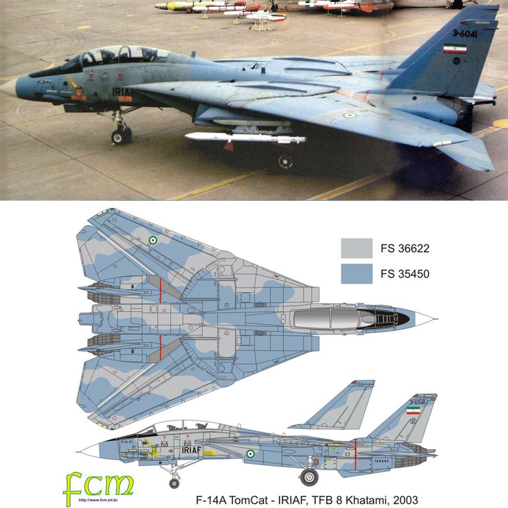 Set Força Aérea do Irã tons azuis