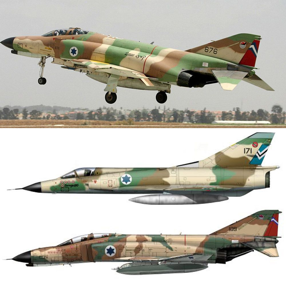 Set Israel Phantom e Mirage III