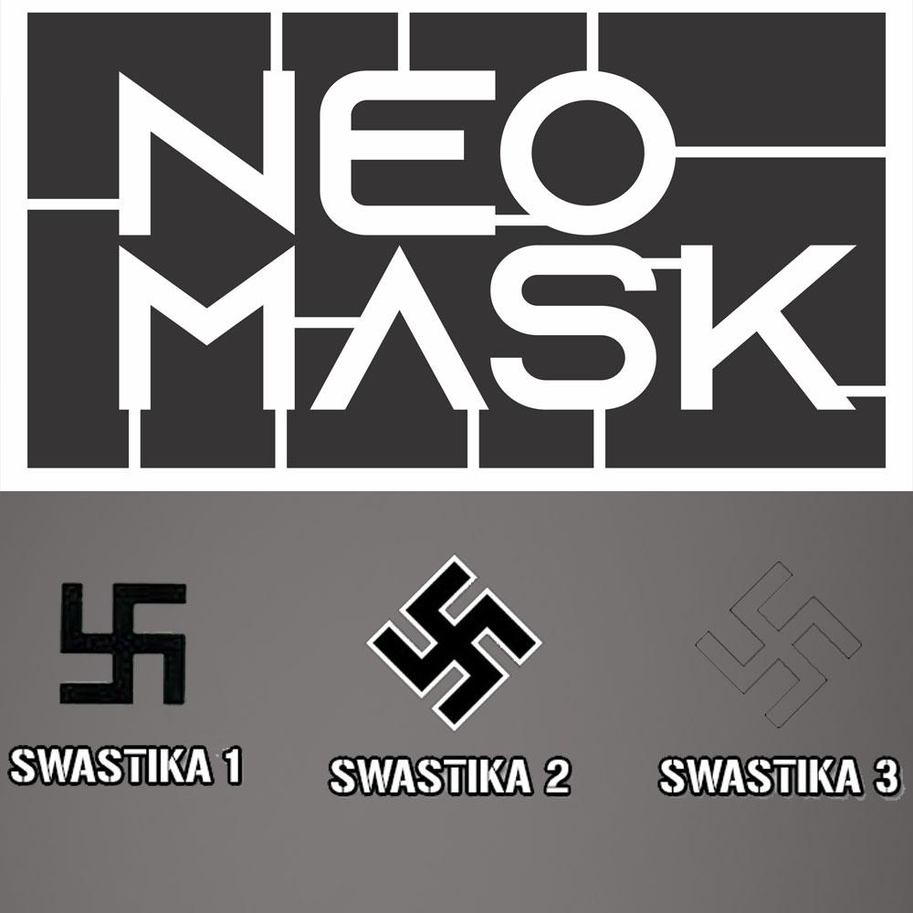 Set Máscaras Swastika Alemã