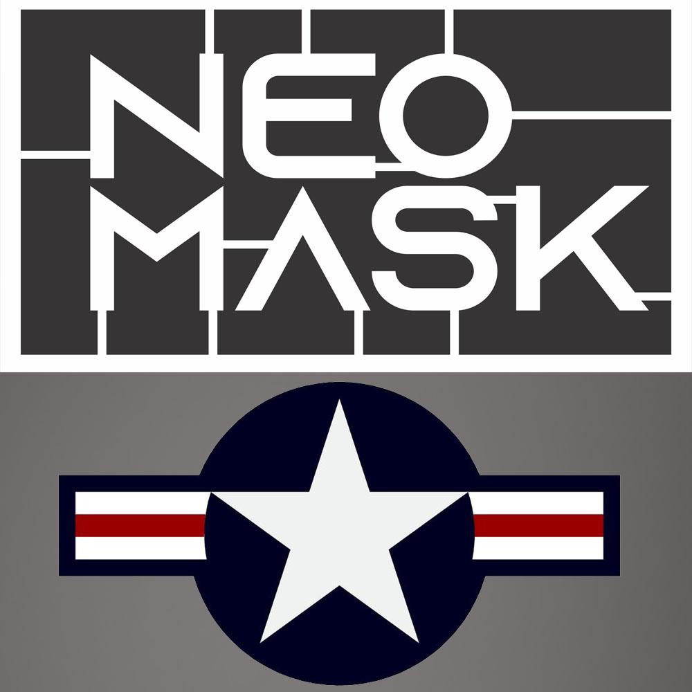 Set Máscaras US Insignia (Star n Bars) 1947 - Atualmente